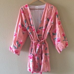 Plum Pretty Sugar floral robe